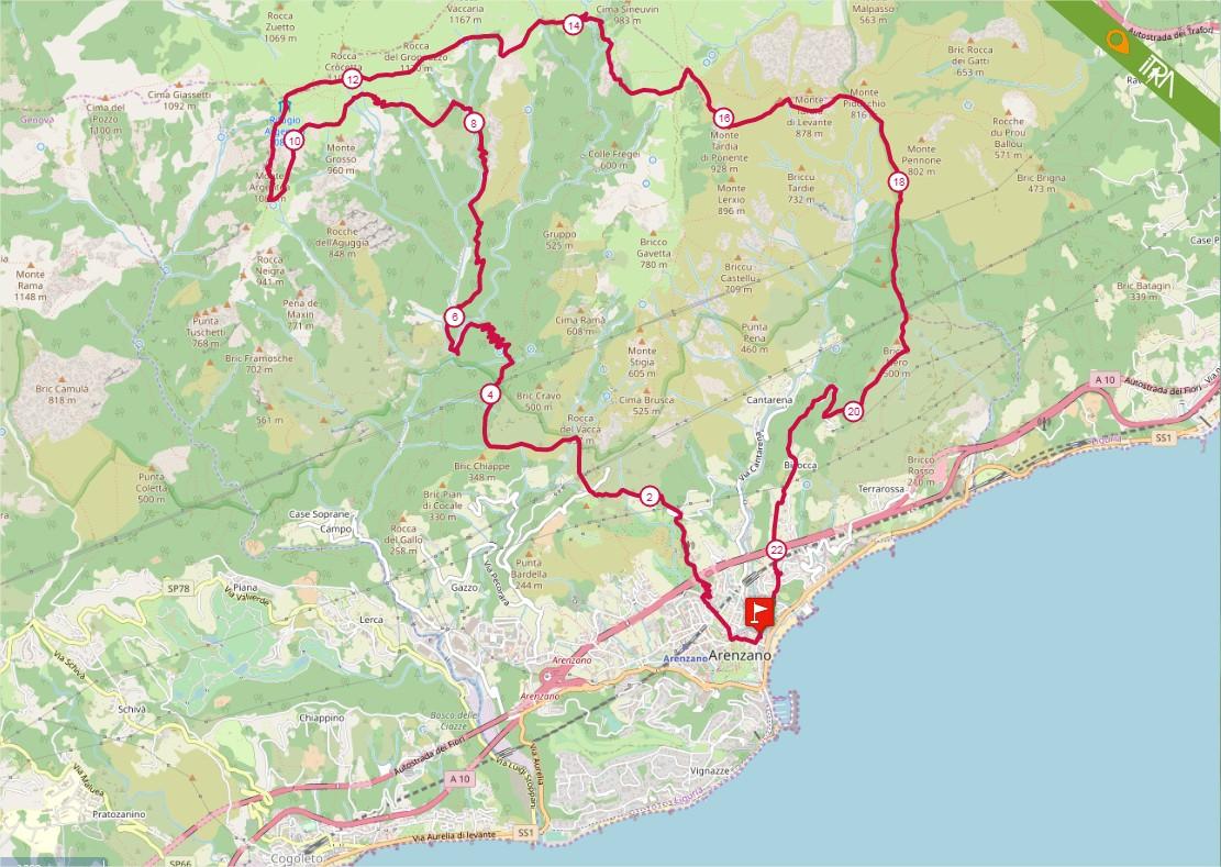Percorso Gran Trail Rensen 2020 – 23km