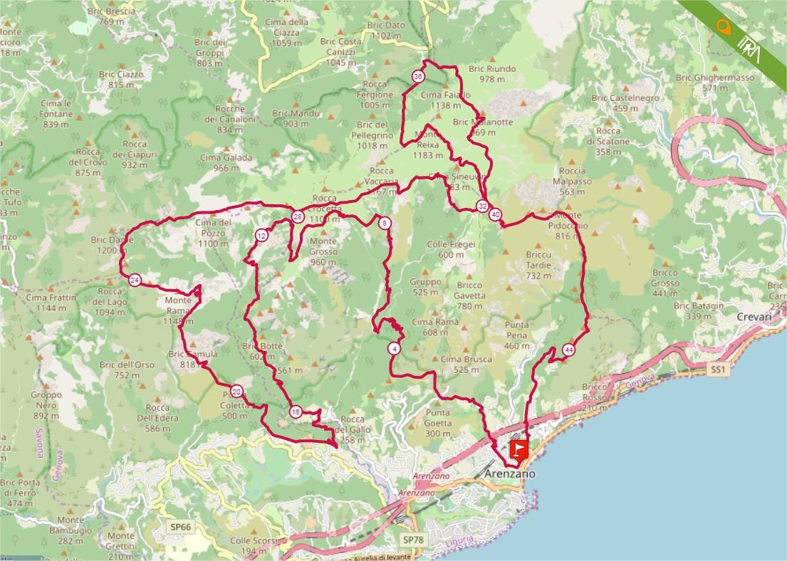 Percorso Gran Trail Rensen 2020 – 47km