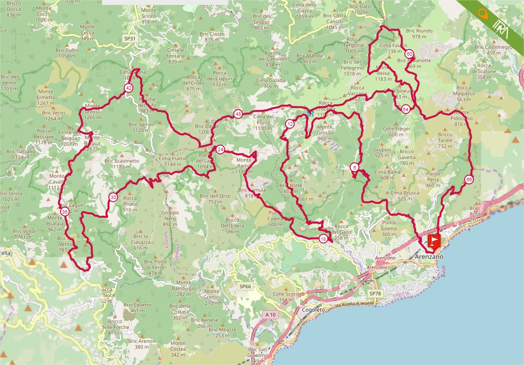 Percorso Gran Trail Rensen 2020 – 70km